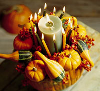 candles and gourds
