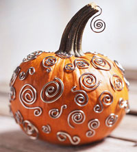 Lead shot for Silver Swirl Pumpkin Project