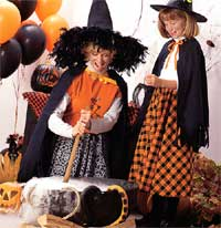 Mother and Daughter Making Witch's Brew