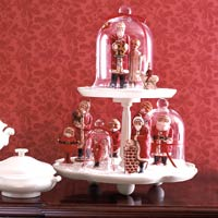 Santa clause on two tier candy dish
