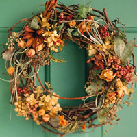 Dried Flower and Berry Willow Wreath
