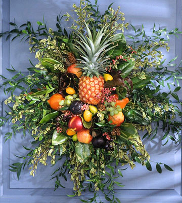 Holiday Fruit Door Wreath