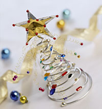 Coiled Christmas Tree Decorations