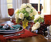 Apples and Roses Centerpiece