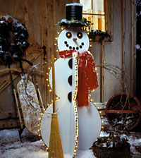Happy Snowman Outdoor Decoration