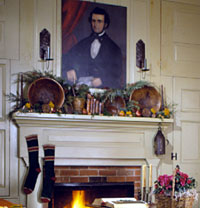 Mantel with Bowls, Fruit and Greens