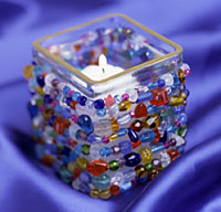Sparkling Beaded Candleholder