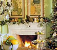 Vegetable Decorated Mantel