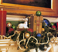Decorated Mantel Detail