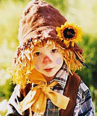 Child in Scarecrow Costume