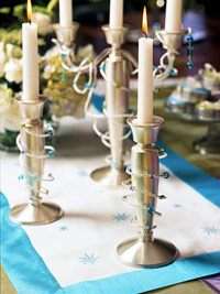Beaded candle sticks