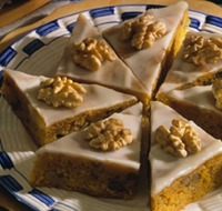 Carrot-Pumpkin Bars with Orange icing