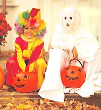 Clown and Ghost Costumes
