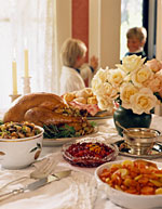 Holiday Tabletop with Turkey