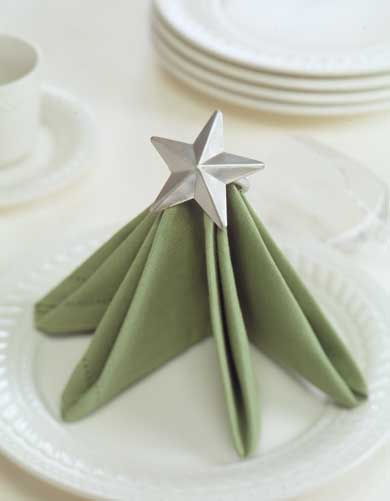 star napkin rings home as party favors.