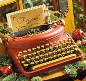 Santa Typewriter