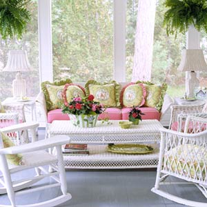 CottStyleSpr04_Green and Pink Pillows on couch white furniture