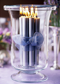 Lavendar Candle Arrangement