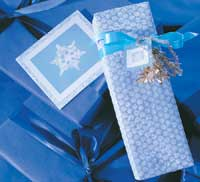 Blue Bubble Wrapped Gift