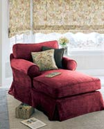 RoomRedos__Red chaise lounge chair