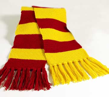 Free Crochet Pattern 50379-C Harry Potter Wizard Scarf
