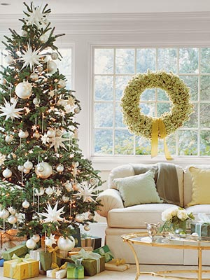 Tree in living room