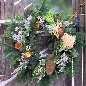 Christmas Vegetable Wreath