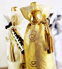 Champagne bottle decorations