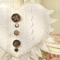 Heart with Buttons and Lace