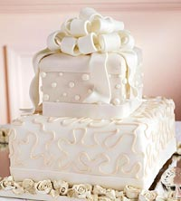 Cake decorated with Fondant Bows