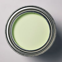 Green can of paint