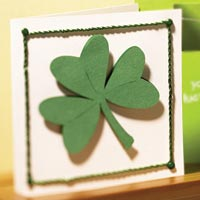 Close up of St. Patrick's Day card