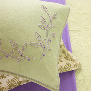 Pillow with Purple Detail