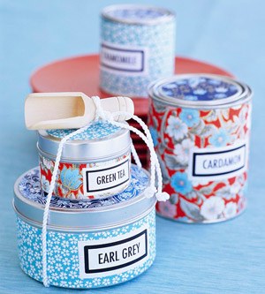 Decorated Tin Cans