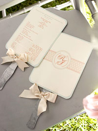 Wedding Programs Made into Fans