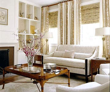 Living Room, tan and white d�cor