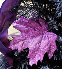 Purple sparkle leaf