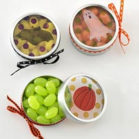 Halloween treat tins