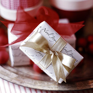 small wrapped present