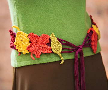 Preview This Free Crochet Pattern: Autumn Leaves Belt