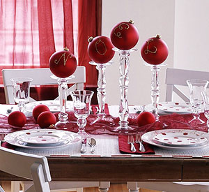 Better Homes and Gardens Christmas Table Settings