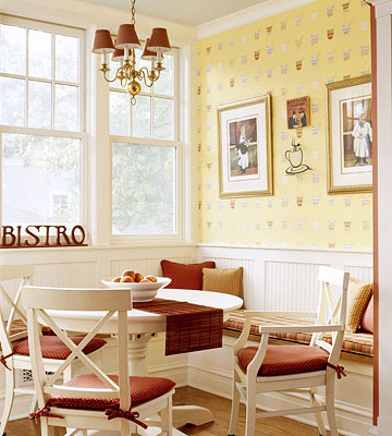 yellow and red bistro