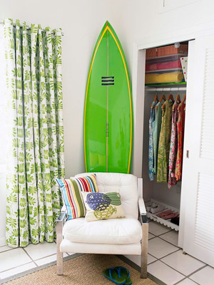surfboard in corner