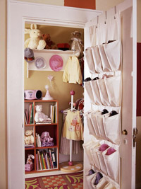 looking into closet
