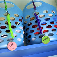 organize closets with products from the dollar store