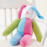 Knitted Stuffed Bunny
