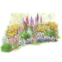 Summer Cottage Garden Plan Illustration