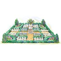 Easy-Care Formal Garden Plan Illustration