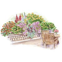 Deckside Container-Garden Plan Illustration