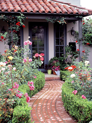 Hot pics celebrity for Rose garden designs for small yard